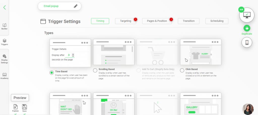 AIVA Labs lead generation software screenshot
